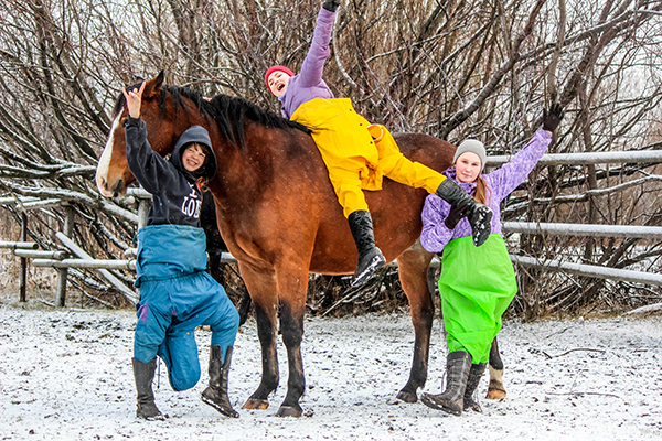 Косова_Трое из ларца, атакующие коня_1